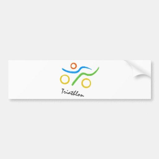 Logotipo do Triathlon Adesivo