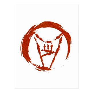 Logotipo do universo do metal pesado cartão postal