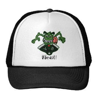 logotipo do vbeast do chapéu boné