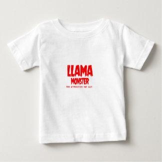 Logotipo do vermelho do monstro do lama camiseta para bebê