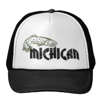 LOGOTIPO DO VINTAGE DE MICHIGAN DOS PEIXES BONÉ
