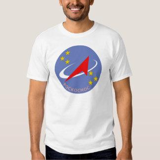 Logotipo do vôo de Roscosmos redondo Camisetas