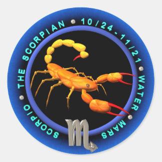 Logotipo do zodíaco da Escorpião de Valxart Adesivo