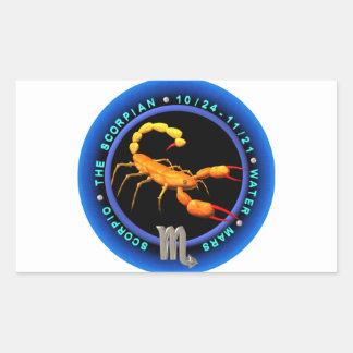 logotipo do zodíaco da Escorpião de valxart.com Adesivo Retangular