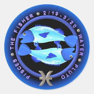 logotipo do zodíaco dos peixes do valxart adesivo