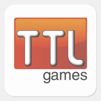 Logotipo dos jogos de TTL Adesivo Quadrado