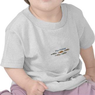 Logotipo dos peixes de água salgada da pesca do ca t-shirt