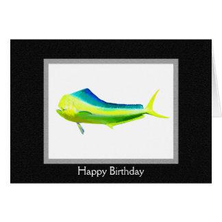 Logotipo dos peixes de Mahi Mahi Cartão Comemorativo