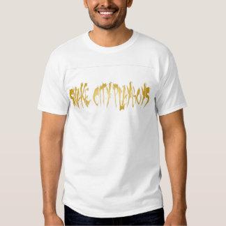 Logotipo dos playboys da cidade do cobra tshirts