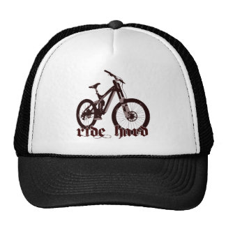 Logotipo duro da bicicleta do passeio dos chapéus boné