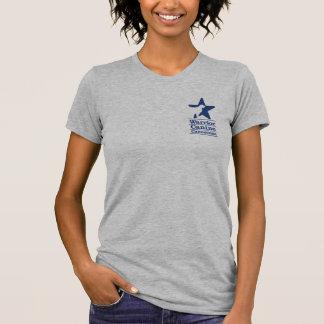 Logotipo e Web site básicos do marinho Tshirts