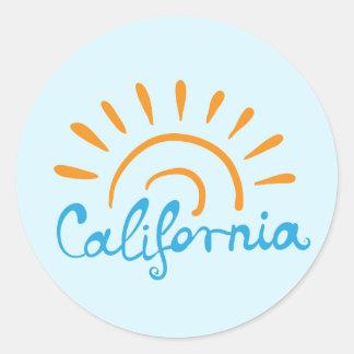 Logotipo ensolarado de Califórnia Adesivo