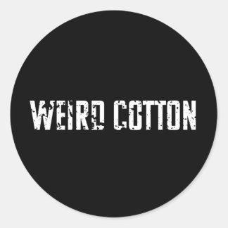 Logotipo estranho da etiqueta do algodão