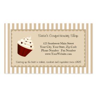 Logotipo feito sob encomenda do cupcake, listras m modelos cartao de visita