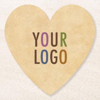 Logotipo feito sob encomenda marcado coração porta-copo de papel