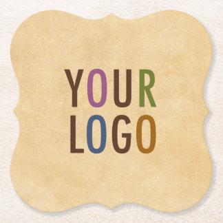 Logotipo feito sob encomenda marcado suporte porta-copo de papel
