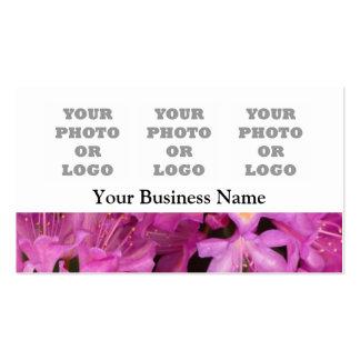 Logotipo floral cor-de-rosa bonito da empresa da cartão de visita