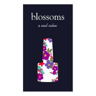 Logotipo floral do verniz para as unhas, salão de cartão de visita