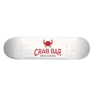 Logotipo fresco do marisco do bar do caranguejo shape de skate 18,1cm