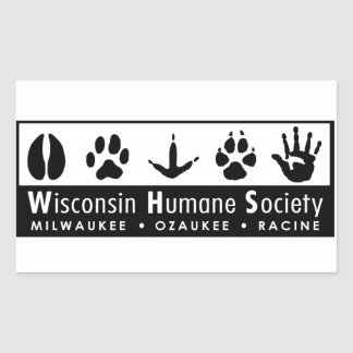 Logotipo humano da sociedade de Wisconsin Adesivo Em Forma Retangular