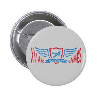 Logotipo imaginário da aviação retro - botão bóton redondo 5.08cm