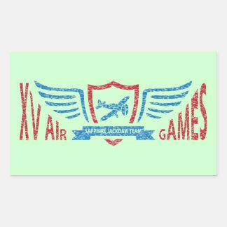 Logotipo imaginário da aviação retro - etiqueta adesivo retangular