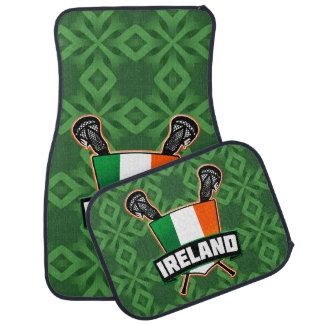 Logotipo irlandês da bandeira do Lacrosse de Tapete Automotivo