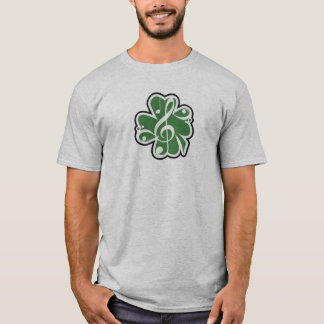 Logotipo irlandês da música camiseta