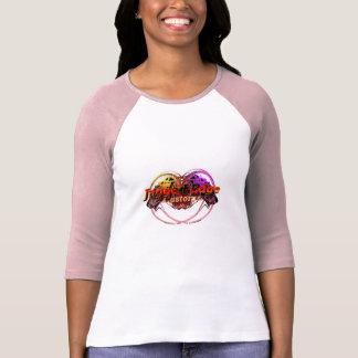Logotipo irregular da alfândega da borda t-shirt