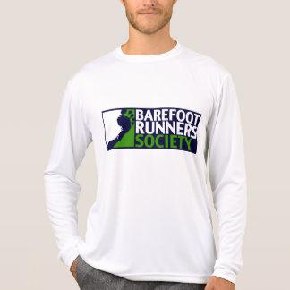 Logotipo longo da luva do microfiber do desempenho camiseta