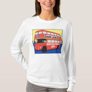 Logotipo longo do ônibus da camisa de Sleve T das