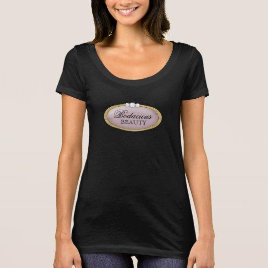 Logotipo malva do ouro do diamante Bodacious da Camiseta