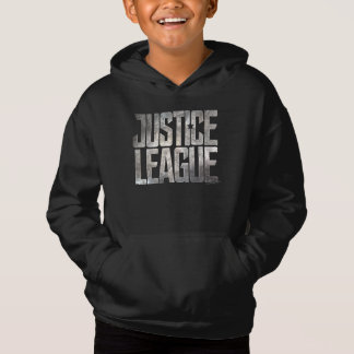 Logotipo metálico da liga de justiça da liga de