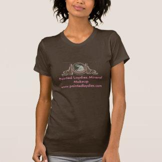 Logotipo mineral pintado da composição de Laydies T-shirt