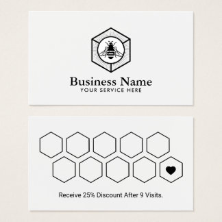 Logotipo minimalista da abelha do mel do cartão |