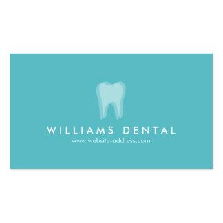 Logotipo moderno do dente do Aqua do dentista, Cartão De Visita