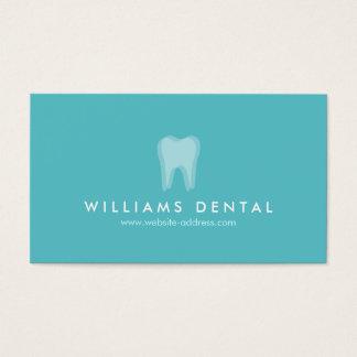 Logotipo moderno do dente do Aqua do dentista, Cartão De Visitas