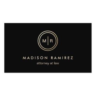 Logotipo moderno do monograma do advogado cartão de visita