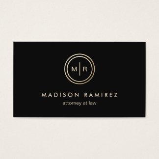 Logotipo moderno do monograma do advogado cartão de visitas