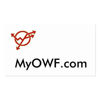 logotipo, MyOWF.com Cartão De Visita