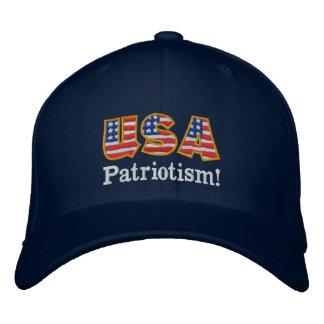 Logotipo NB1 do patriotismo dos EUA Boné Bordado