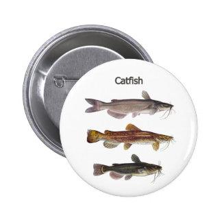 Logotipo norte-americano do peixe-gato bóton redondo 5.08cm