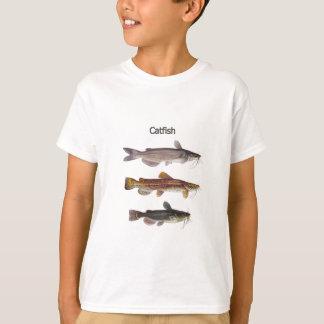 Logotipo norte-americano do peixe-gato camiseta