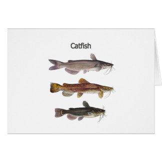 Logotipo norte-americano do peixe-gato cartão comemorativo