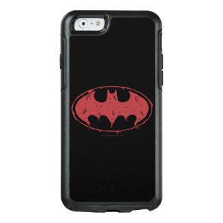 Logotipo Oozing do bastão vermelho de Batman  