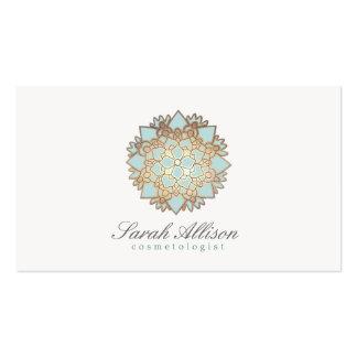 Logotipo orgânico dos termas e do salão de beleza cartão de visita