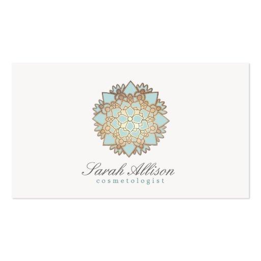 Logotipo orgânico dos termas e do salão de beleza cartões de visitas