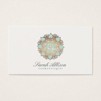 Logotipo orgânico dos termas e do salão de beleza cartão de visitas