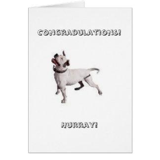 logotipo pequeno, Congradulations! Hurray! Cartão Comemorativo