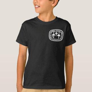 Logotipo pequeno da camisa escura da juventude